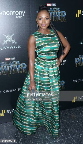 Actress Naturi Naughton attends the screening of Marvel Studios' 'Black Panther' hosted by The Cinema Society with Ravage Wines and Synchrony at...