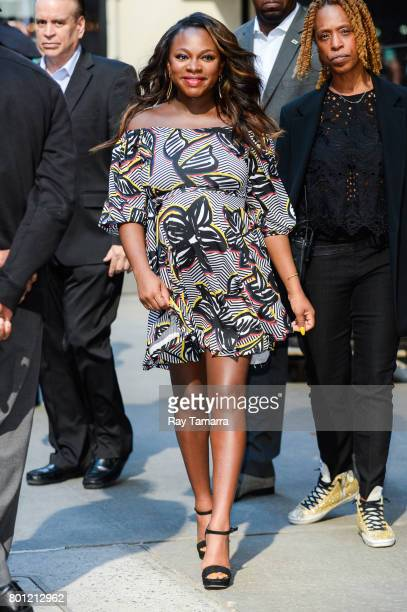 Actress Naturi Naughton leaves the Good Morning America taping at the ABC Times Square Studios on June 26 2017 in New York City