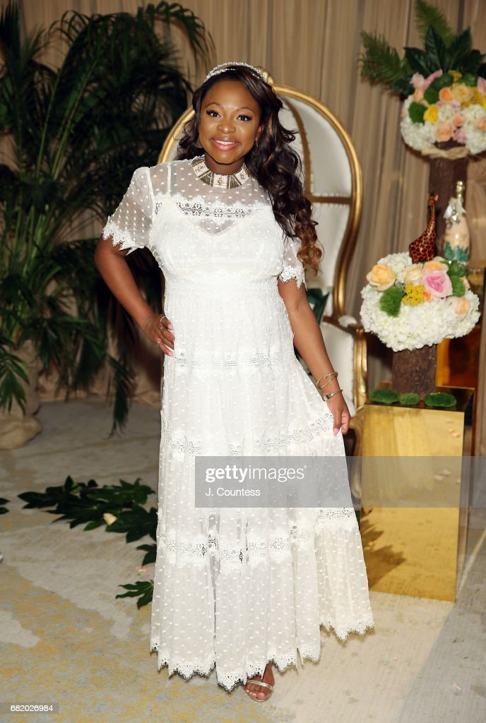 Actress Naturi Naughton poses for a photo during her Baby Shower at The Dazzler Hotel on May 7, 2017 in the Brooklyn borough of New York City.