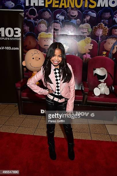 Actress Navia Robinson attends 20th Century Fox's The Peanuts Movie VIP Red Carpet Screening on November 3 2015 in Atlanta Georgia