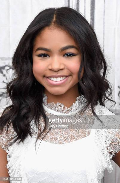 Actress Navia Robinson visits Build Studio to discuss the Disney Channel show 'Raven's Home' at Build Studio on October 10 2018 in New York City