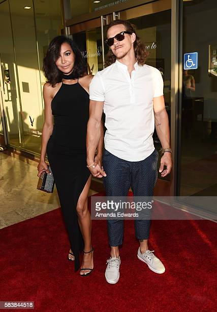 Actress Naya Rivera and actor Ryan Dorsey arrive at the Raising The Bar To End Parkinson's event at Laurel Point on July 27 2016 in Studio City...