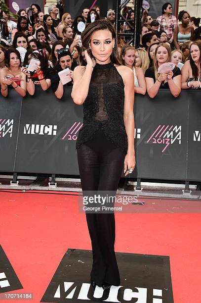 Actress Naya Rivera arrives at the 2013 MuchMusic Video Awards at MuchMusic HQ on June 16 2013 in Toronto Canada