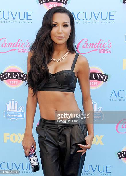 Actress Naya Rivera arrives at the 2013 Teen Choice Awards at Gibson Amphitheatre on August 11 2013 in Universal City California