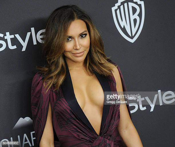 Actress Naya Rivera arrives at the 2016 InStyle And Warner Bros 73rd Annual Golden Globe Awards PostParty at The Beverly Hilton Hotel on January 10...