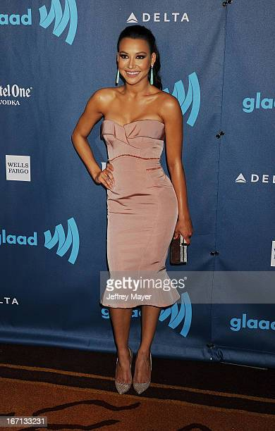 Actress Naya Rivera arrives at the 24th Annual GLAAD Media Awards at JW Marriott Los Angeles at L.A. LIVE on April 20, 2013 in Los Angeles,...