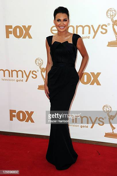 Actress Naya Rivera arrives at the 63rd Annual Primetime Emmy Awards held at Nokia Theatre LA LIVE on September 18 2011 in Los Angeles California
