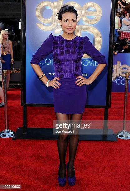 """Actress Naya Rivera arrives at the Los Angeles Premiere """"GLEE: The 3D Concert Movie"""" at Regency Village Theatre on August 6, 2011 in Westwood,..."""