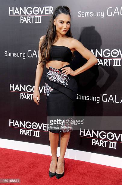 Actress Naya Rivera arrives at the Los Angeles premiere of 'The Hangover III' at Mann's Village Theatre on May 20 2013 in Westwood California