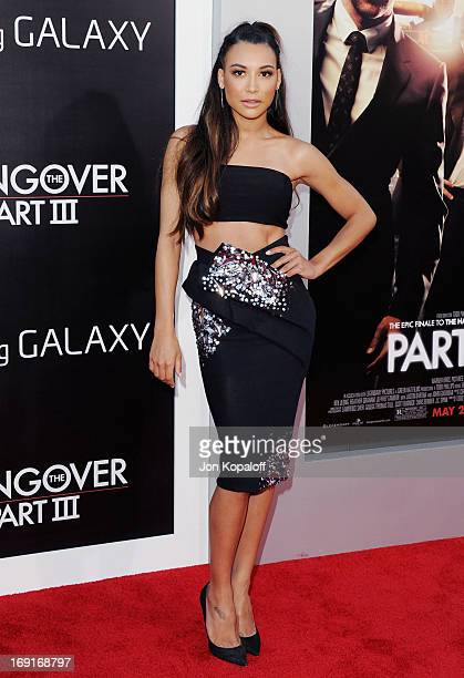 Actress Naya Rivera arrives at the Los Angeles Premiere 'The Hangover Part III' at Westwood Village Theatre on May 20 2013 in Westwood California