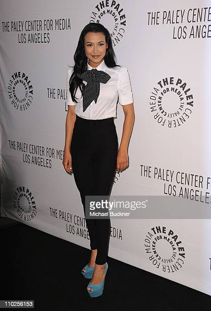 Actress Naya Rivera arrives at the Paley Center for Media's Paleyfest 2011 Event honoring Glee at the Saban Theatre on March 16 2011 in Beverly Hills...