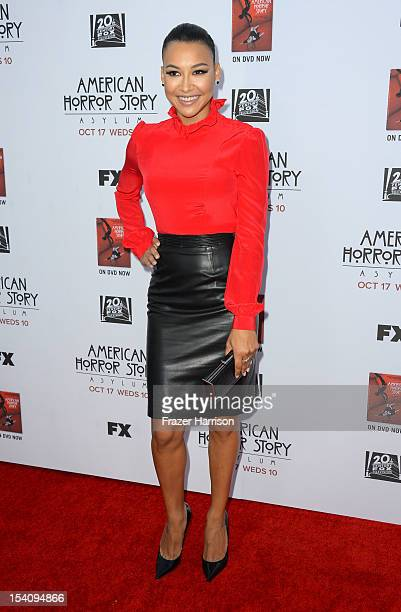Actress Naya Rivera arrives at the Premiere Screening of FX's American Horror Story Asylum at the Paramount Theatre on October 13 2012 in Hollywood...