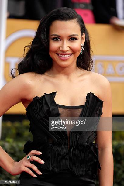 Actress Naya Rivera arrives at the19th Annual Screen Actors Guild Awards held at The Shrine Auditorium on January 27 2013 in Los Angeles California