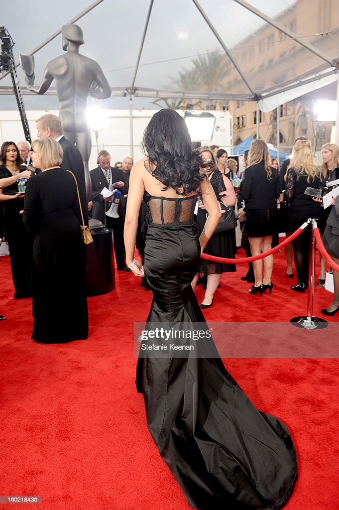 Actress Naya Rivera attends the 19th Annual Screen Actors Guild Awards at The Shrine Auditorium on January 27, 2013 in Los Angeles, California. (Photo by Stefanie Keenan/WireImage) 23116_025_0950.JPG