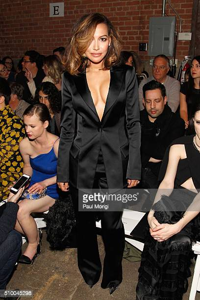 Actress Naya Rivera attends the Christian Siriano Fall 2016 fashion show during New York Fashion Week at ArtBeam on February 13 2016 in New York City