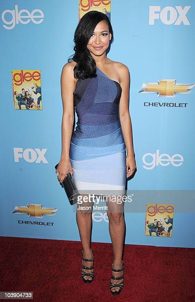 Actress Naya Rivera attends the premiere of 20th Century Fox's 'Glee' Season 2 held at Paramount Studios on September 7, 2010 in Hollywood,...