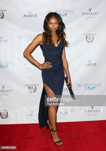 Actress Nayriah Teshali attends the premiere of 'Electric Love' at Laemmle's Ahrya Fine Arts Theatre on April 5 2018 in Beverly Hills California