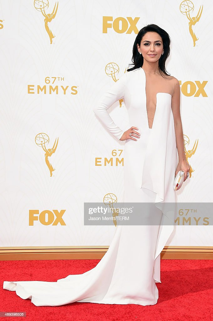 Actress Nazanin Boniadi attends the 67th Annual Primetime Emmy Awards at Microsoft Theater on September 20, 2015 in Los Angeles, California.