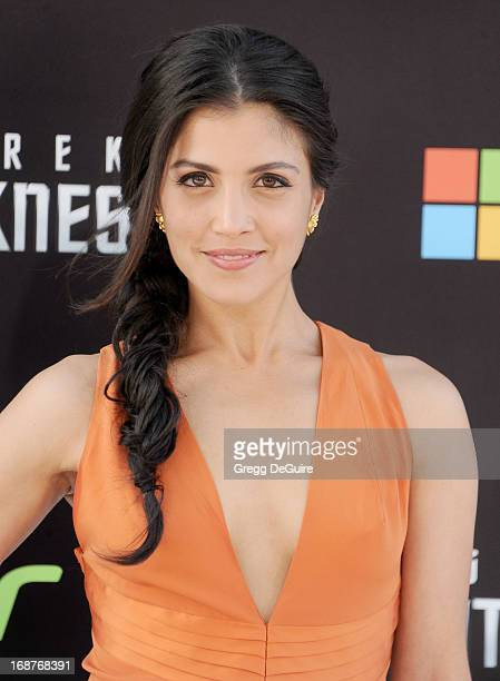 Actress Nazneen Contractor arrives at the Los Angeles premiere of Star Trek Into Darkness at Dolby Theatre on May 14 2013 in Hollywood California