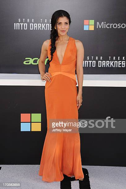 Actress Nazneen Contractor arrives at the Los Angeles premiere of 'Star Trek Into Darkness' at Dolby Theatre on May 14 2013 in Hollywood California