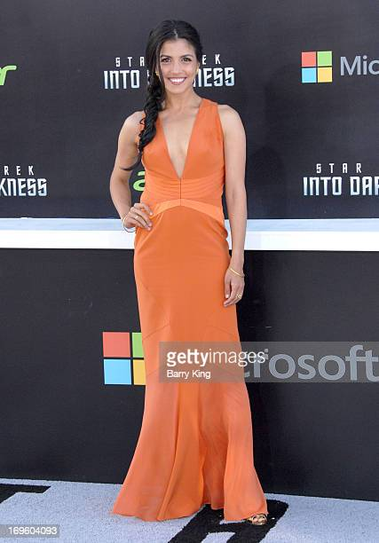 Actress Nazneen Contractor attends the premiere of 'Star Trek Into Darkness' at Dolby Theatre on May 14 2013 in Hollywood California