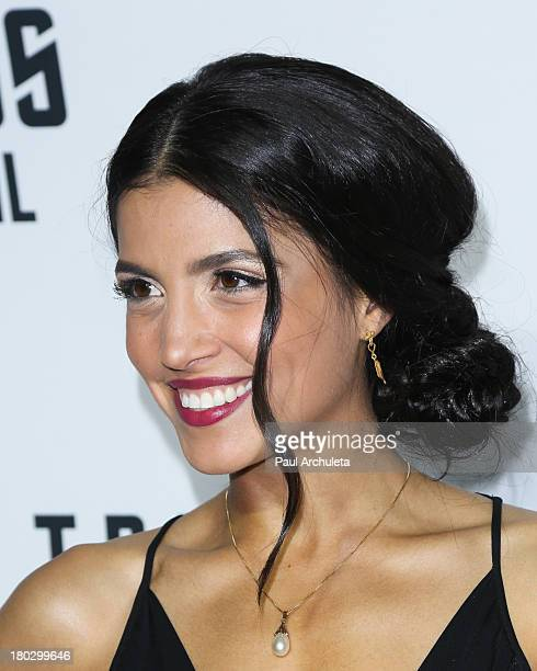 Actress Nazneen Contractor attends the Star Trek Into Darkness Bluray/DVD release party at the California Science Center on September 10 2013 in Los...