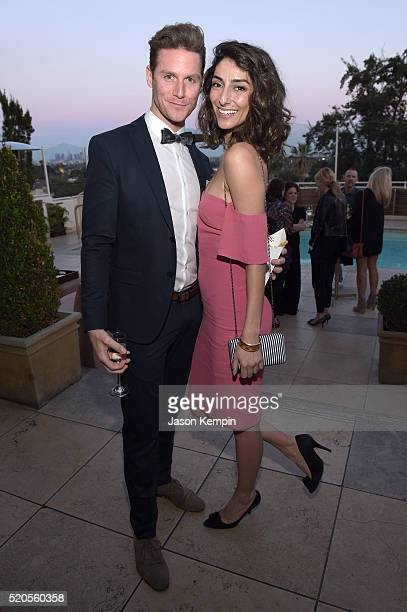 Actress Necar Zadegan and guest attend the Fresh Faces party hosted by Marie Claire celebrating the May issue cver stars on April 11 2016 in Los...