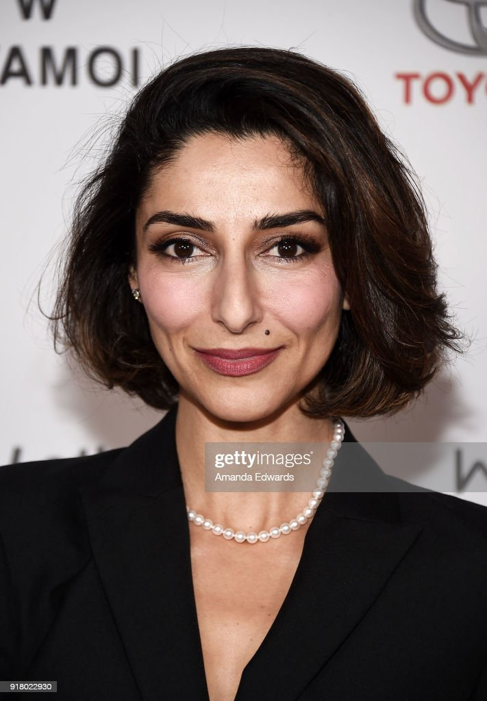 Actress Necar Zadegan arrives at the 2018 Women In The World Los Angeles Salon at NeueHouse Hollywood on February 13, 2018 in Los Angeles, California.