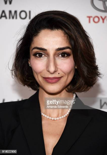Actress Necar Zadegan arrives at the 2018 Women In The World Los Angeles Salon at NeueHouse Hollywood on February 13 2018 in Los Angeles California