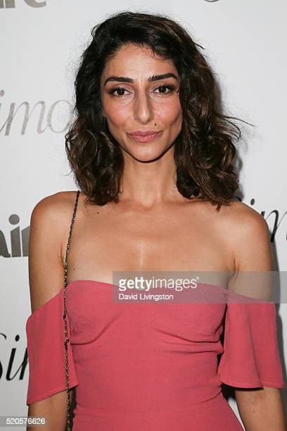 Actress Necar Zadegan arrives at the Marie Claire Fresh Faces Party at the Sunset Tower Hotel on April 11 2016 in West Hollywood California