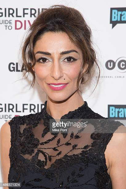 Actress Necar Zadegan attends the Girlfriend's Guide To Divorce New York Series Premiere at Crosby Street Hotel on November 20 2014 in New York City