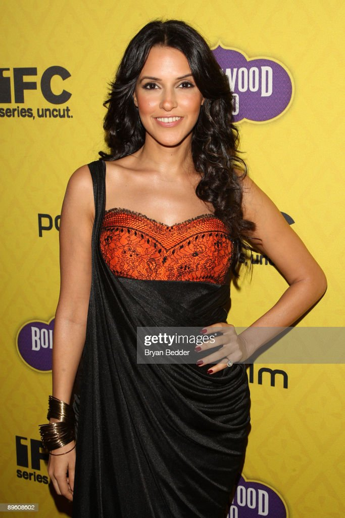 Actress Neha Dhupia arrives at the premiere of 'Bollywood Hero' at the Rubin Museum of Art August 4 2009 in New York City