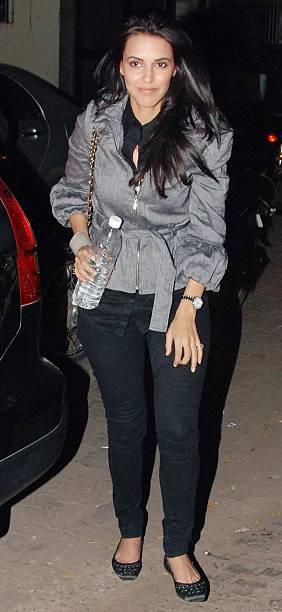 Actress Neha Dhupia at a special screening of the film Raat Gayi Baat Gayi in Mumbai on Tuesday December 29 2009
