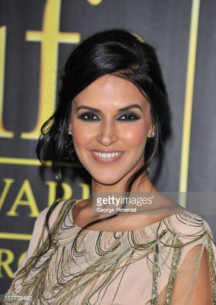 Actress Neha Dhupia attend the MAC Cosmetics Sponsored IIFAS Awards Presentation at the Rogers Centre on June 25 2011 in Toronto Canada