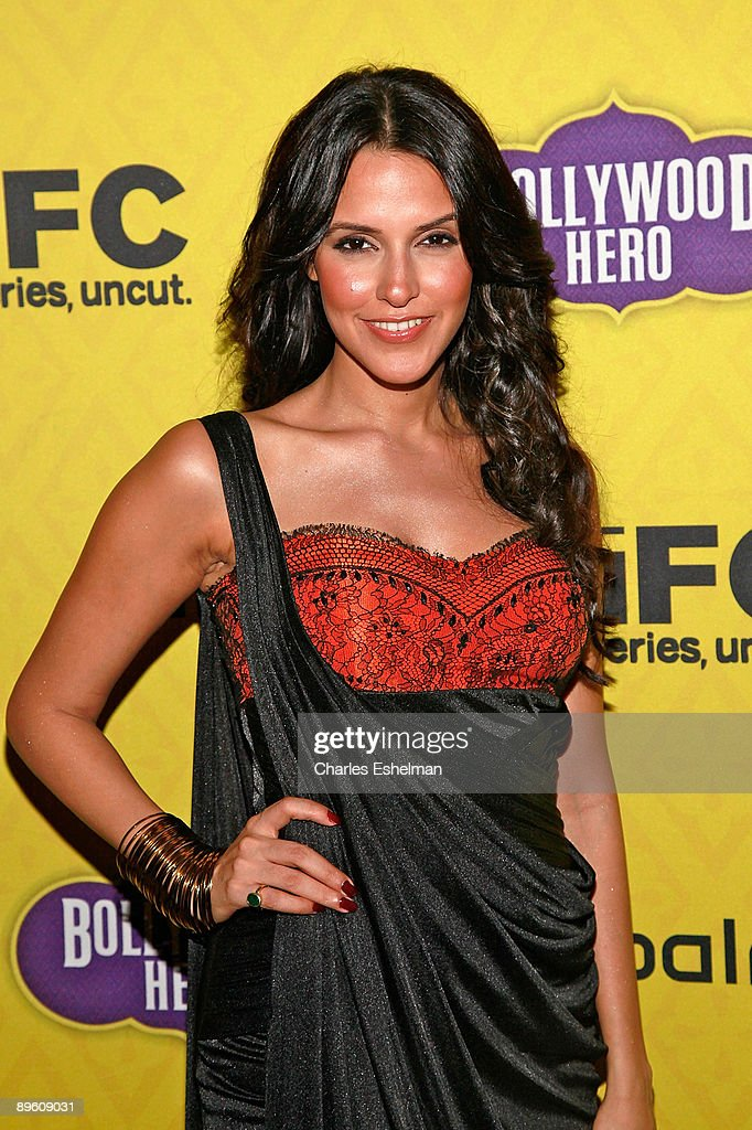 Actress Neha Dhupia attends the after party for the `Bollywood Hero` screening at the Rubin Museum of Art on August 4 2009 in New York City