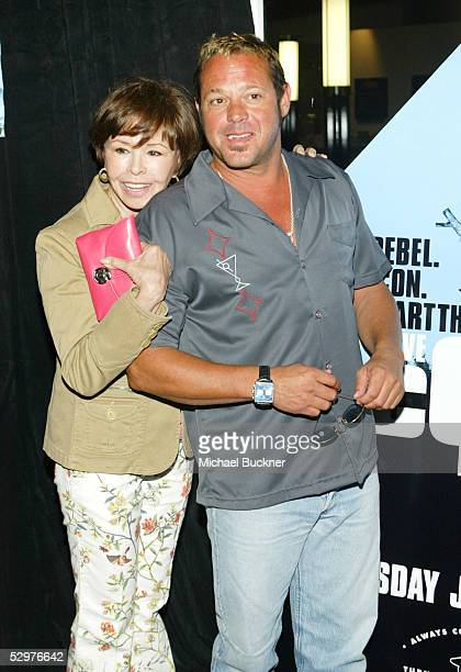 Actress Neile Adams and son Chad McQueen arrive at the screening of TCM's documentary Steve McQueen The Essence of Cool at the Peterson Automotive...