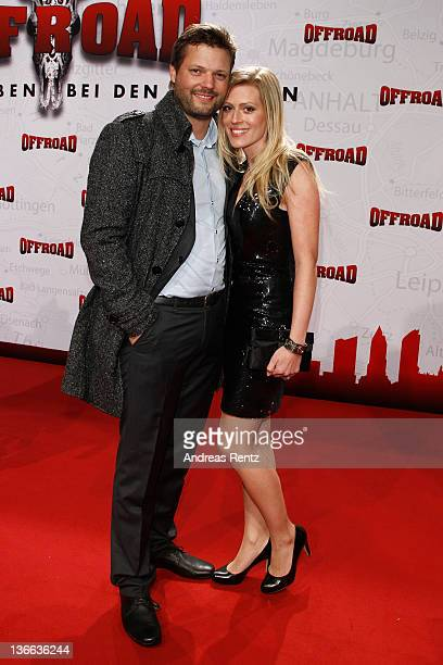 Actress Nele Kiper and partner and director Peter Thorwarth attend the 'Offroad' premiere at cinema Kulturbrauerei on January 9, 2012 in Berlin,...