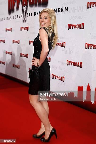 Actress Nele Kiper attends the 'Offroad' premiere at cinema Kulturbrauerei on January 9, 2012 in Berlin, Germany.