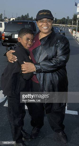 Actress Nell Carter and son Joshua Carter attending 'Discover Stars On Ice Performance' on January 17 1999 at the Great Western Forum in Los Angeles...