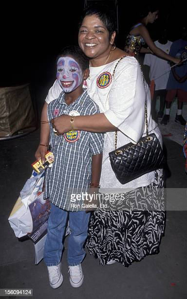 Actress Nell Carter and son Joshua Carter attending the opening of 'Ringling Brothers Circus' on July 22 1998 at the Los Angeles Sports Arena in Los...
