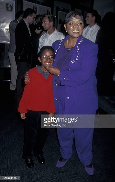 Actress Nell Carter and son Joshua Carter attending the screening of 'The Grass Harp' on October 9 1996 at the Green Theater at Pacific Design Center...