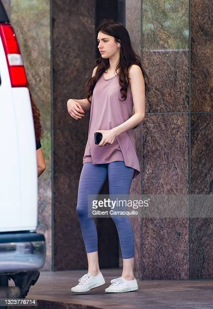 """Actress Nell Tiger Free is seen walking to the set of Apple TV+ streaming series """"Servant"""" Season 3 on June 15, 2021 in Philadelphia, Pennsylvania."""