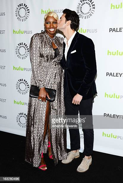 Actress NeNe Leakes and actor Jayson Blair arrive at the 30th Annual PaleyFest The William S Paley Television Festival featuring The New Normal at...