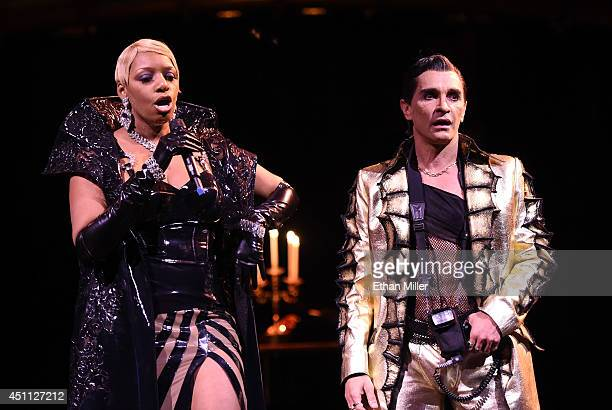 Actress NeNe Leakes and cast member Antonio Drija perform during a preview for Leakes' 10show guest engagement as The Mistress of Sensuality in...