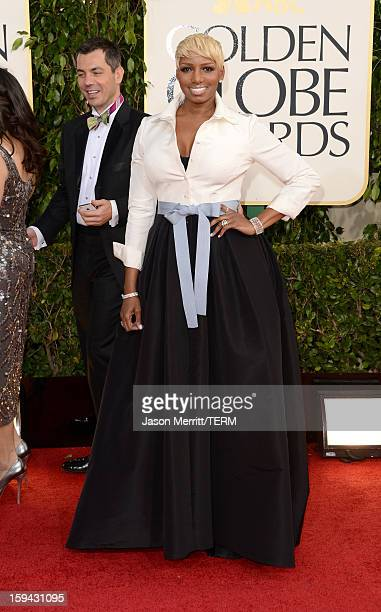 Actress NeNe Leakes arrives at the 70th Annual Golden Globe Awards held at The Beverly Hilton Hotel on January 13 2013 in Beverly Hills California