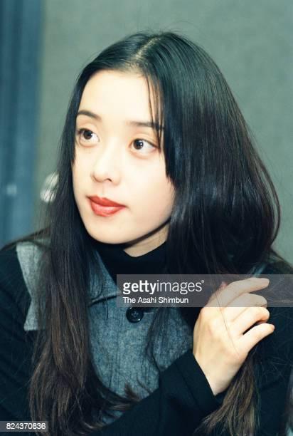 Actress Nene Otsuka speaks during the Asahi Shimbun interview on December 3 1994 in Tokyo Japan