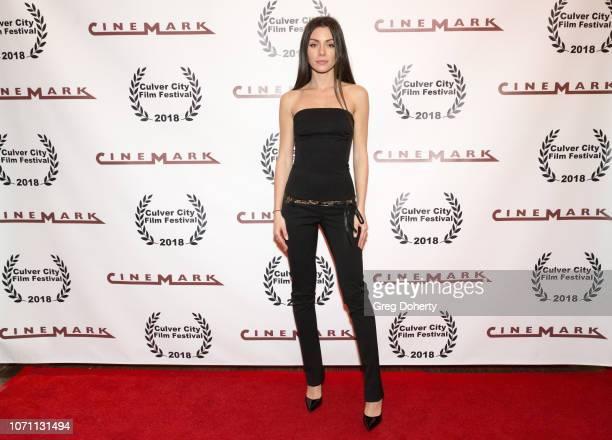 Actress Neraida Bega attends a screening of Acts Of Desperation At Culver City Film Festival Starring Paul Sorvino Kira Reed Lorsch Jason Gedrick...