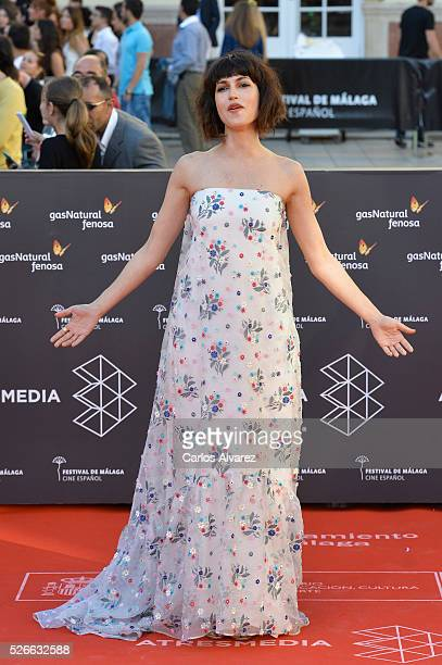 Actress Nerea Barros attends Nuestros Amantes premiere at the Cervantes Teather during the 19th Malaga Film Festival on April 30 2016 in Malaga Spain