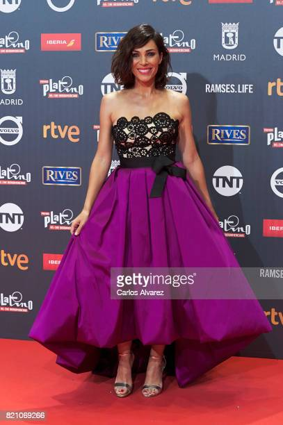 Actress Nerea Garmendia attends the Platino Awards 2017 photocall at the La Caja Magica on July 22 2017 in Madrid Spain