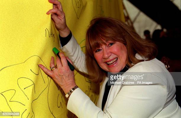 Actress Nerys Hughes at the Millennium Dome south London where it was revealed that the Millennium children's appeal Children's Promise had so far...
